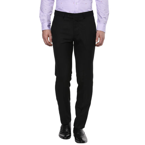 Solid Black Formal Trouser