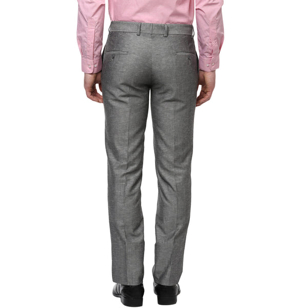 Grey Solid Formal Trouser