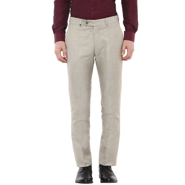 Solid Grey Designer Formal Trouser