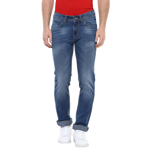 Blue Low Rise Jeans With Stretch