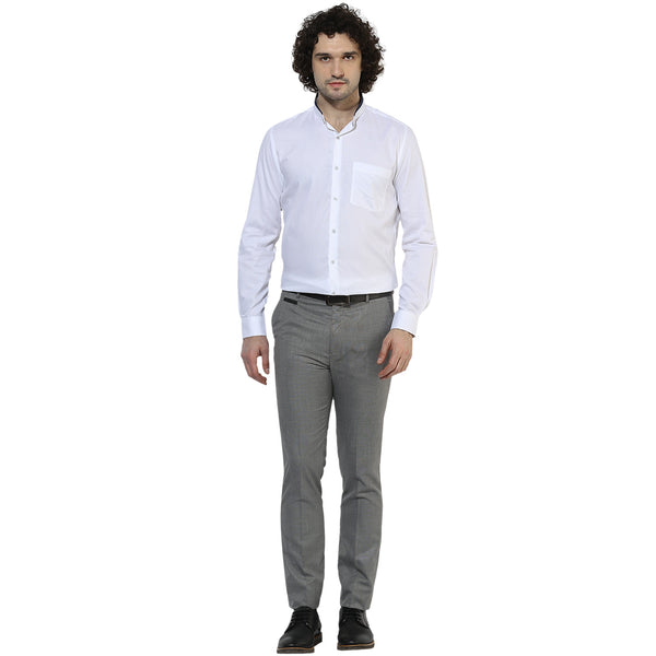 White Structured Formal Shirt