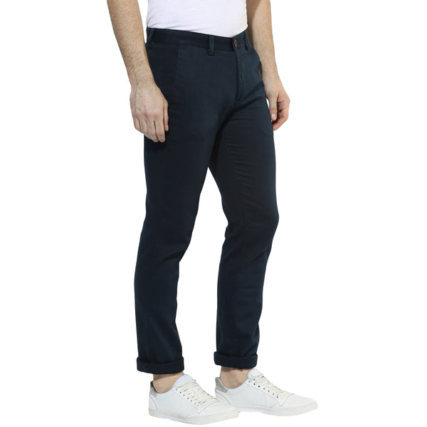 Navy Blue Chinos With Stretch