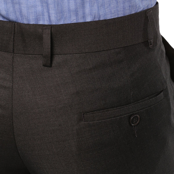 Solid Grey Formal Trouser