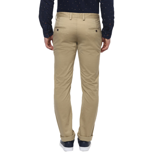 Solid Khaki Coloured Casual Trousers