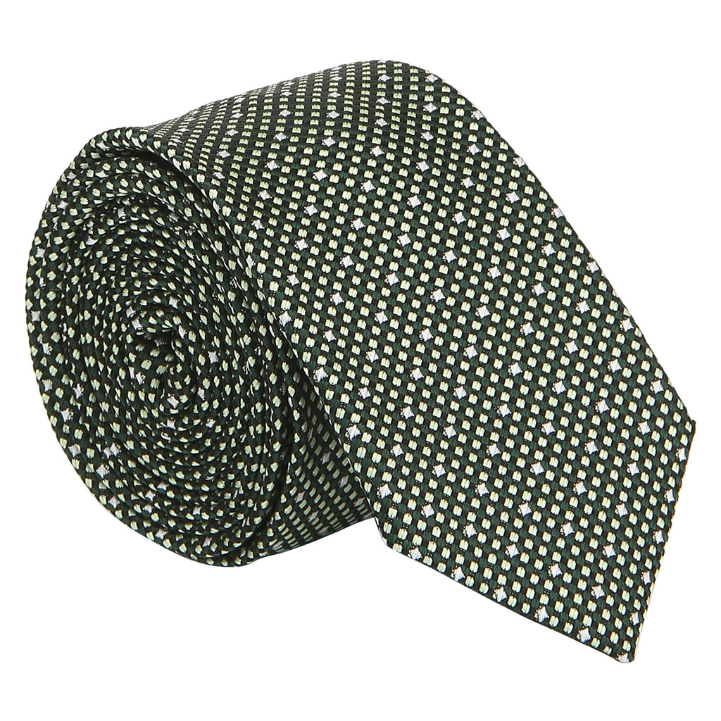 Turtle Men's Green Structured Teflon Coated Tie