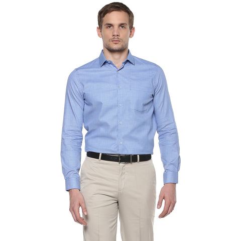 Turtle Blue Checkered Formal Shirt
