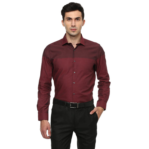 Turtle Red Structured Formal Shirt