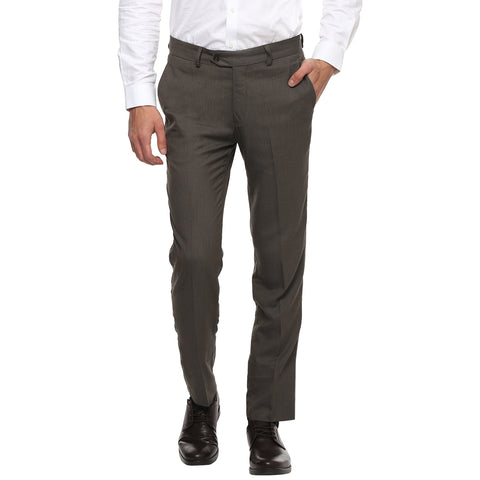 Turtle Brown Structured Formal Trouser
