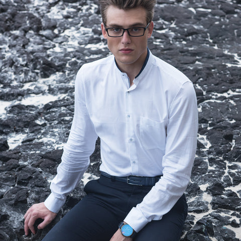 Turtle White Formal Shirt
