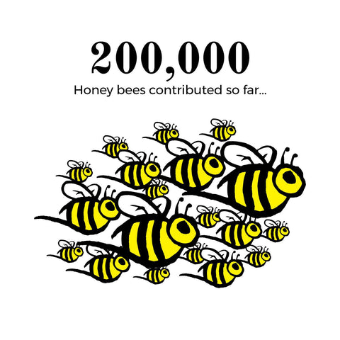 200k bees contibuted to date
