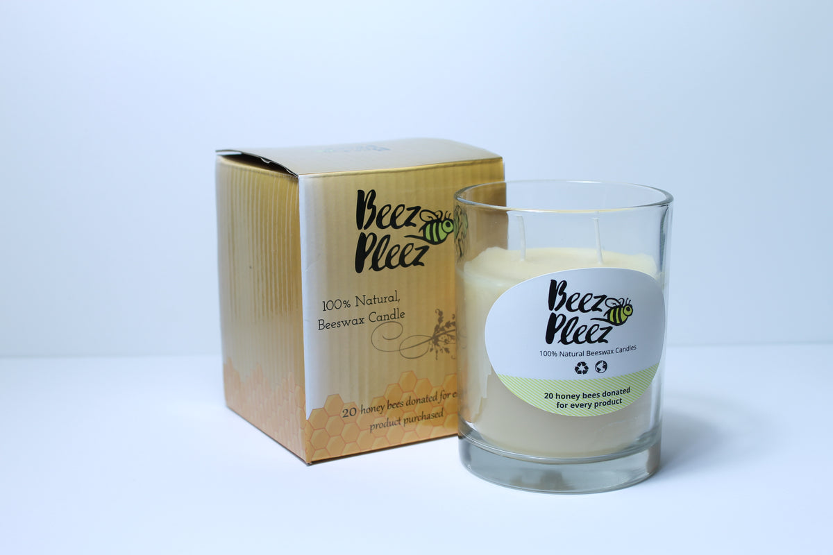 Beeswax Candles for a Cause - Glass