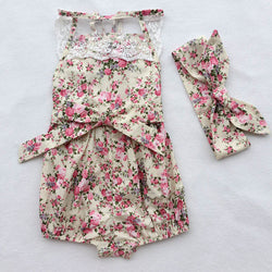 Floral Design Romper 100% Cotton
