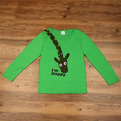 Long Sleeve Giraffe T-Shirt