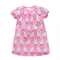 Baby Chick Print Dress 100% Cotton