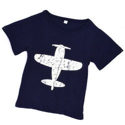 Airplane Print T-Shirt 100% Cotton
