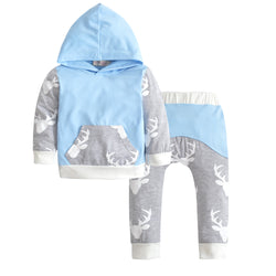 Deer Top & Pants Set 100% Cotton