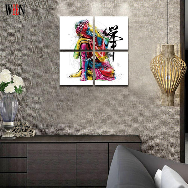 Buddha Canvas Painting Framed zen painting