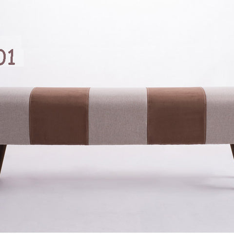 New long sofa,wood long bed stool,Cloth cover detachable