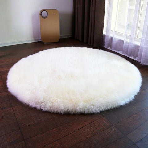 Round Sheepskin Chair Cover