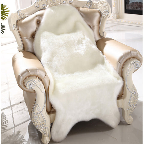 Artificial Sheepskin Fluffy Fur Chair Seat Sofa Cover Carpet Mat