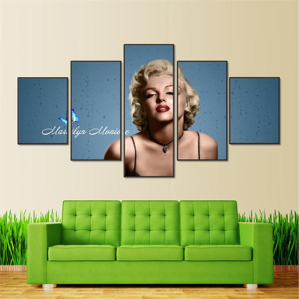 5pcs Marilyn Monroe Frame Wall Art
