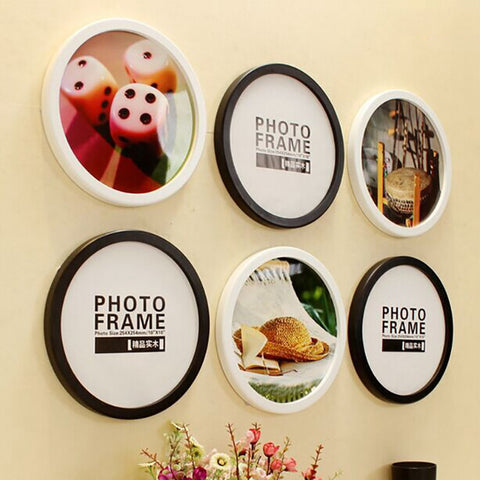 Round Photo Frame DIY Wooden Photo Frames