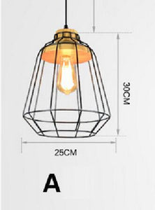 vintage Loft style pendant lights E27 base nordic retro Bar Coffee Shop fixture metal lampshade industrial lighting spider lamp
