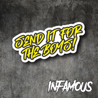 SEND IT FOR THE BOYS sticker 180mm funny 4x4 burnout car ute decal revhead v8