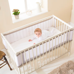 Breathable Cot Bumper - Soft Truffle