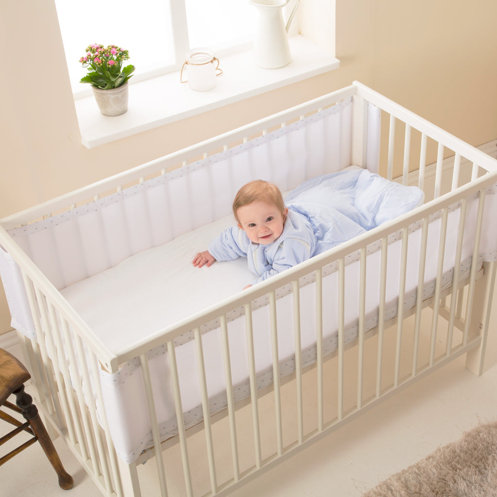 Breathable Cot Bumper - Teardrop