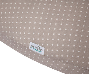 purflo Cool Comfort Pregnancy Pillow Soft Truffle