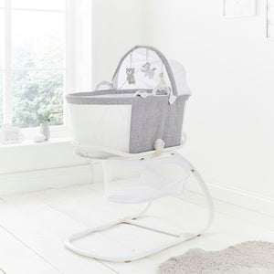 Breathable Bassinet - Marl Grey