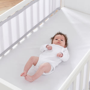 Breathable Cot Bumper - Marl Grey