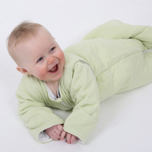 purflo Luxury Jersey Cotton SleepSac with Sleeves On Moss Green