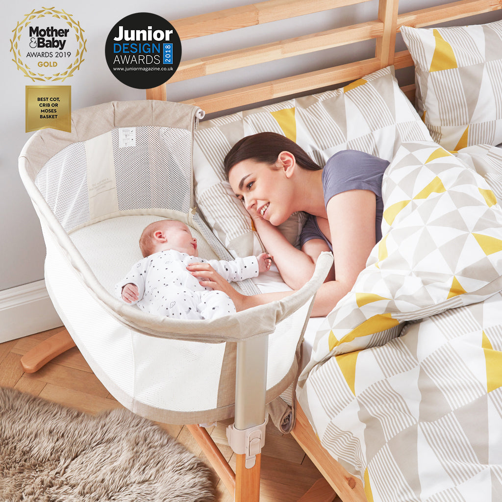 PurAir 'Keep Me Close' Breathable Bedside Crib - Natural