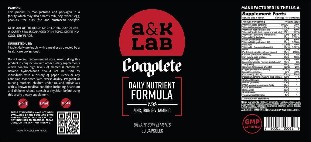 A and K Labs Supplement A&K's - Complete