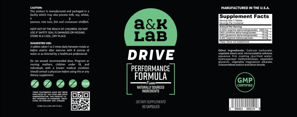 A and K Labs  Supplement A&K's - Drive