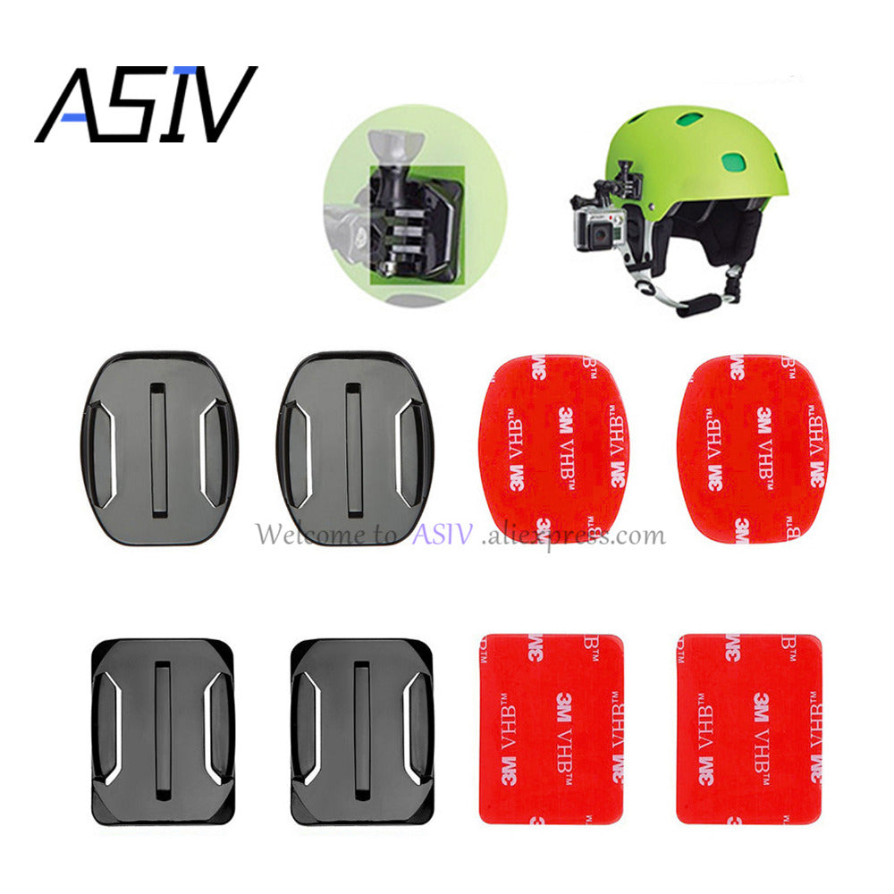 4 PCS Flat Curved Mount Set Sticker 3M Adhesive for Gopro Hero and replica - Photography Stop Ireland