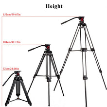 miliboo MTT601A Aluminum Heavy Duty Fluid Head Camera Tripod for Camcorder/DSLR Stand Professional Video Tripod - Photography Stop Ireland