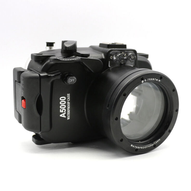 40m 130ft Waterproof Underwater Diving Camera Housing Case for Sony A5000 16-50mm lens - Photography Stop Ireland