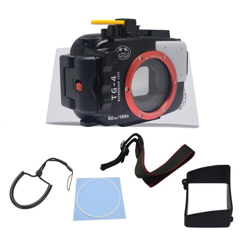 Mcoplus Waterproof case housing 40M Underwater Diving Waterproof Camera case for Olympus TG4 TG-3 - Photography Stop Ireland