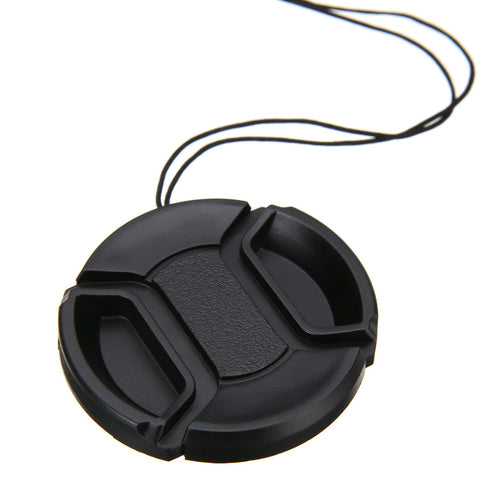 Mayitr 1pc 46mm Front Lens Caps Center Pinch Snap On Lens Cover With Anti Lost Strap for Sony Nikon Camera Universal - Photography Stop Ireland