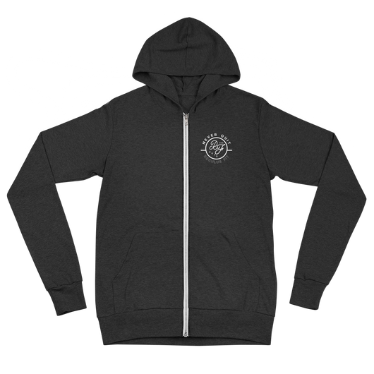 Never Quit Lightweight Zip Up Hoodie