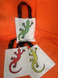 "Gift bags: 6"" x 7"": Applique: Lizard"