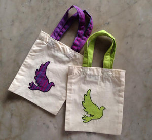 "Gift bags: 6"" x 7"": Applique: Dove"