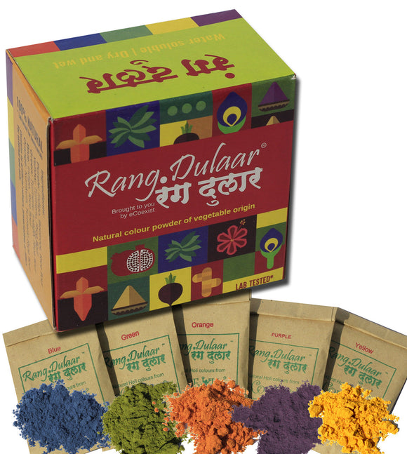 Rang Dulaar Natural Holi colours: 250g assorted colours