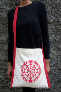 "Cotton Sling Bag: 14"" x 14"" : Yantra Red"