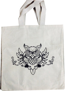 "Cotton Bag: 12"" x 13"": Owl"