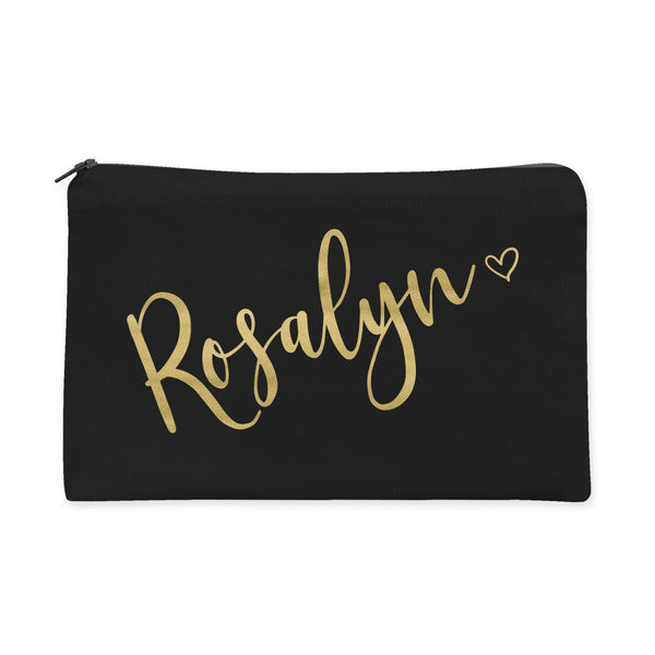 Personalized Heart Bridesmaids Makeup Bag