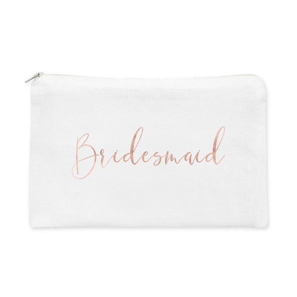 Wedding Party Title Makeup Bag